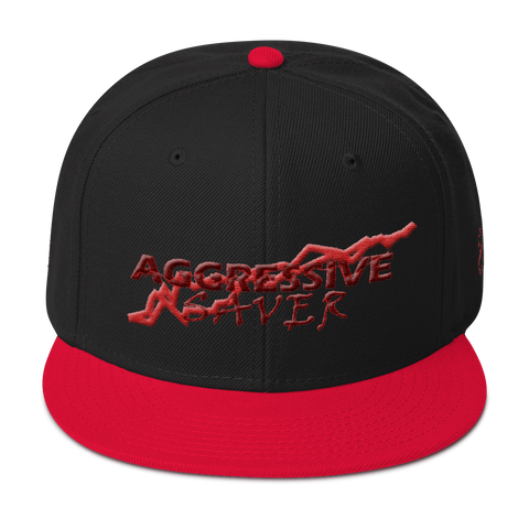 AGGRESSIVE SAVER (burgundy) Snapback Hat