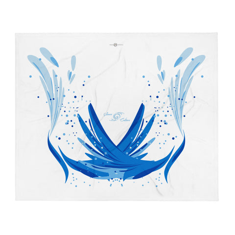 SAUCE CULTURE SPLASH (White, Cool Blue) Throw Blanket