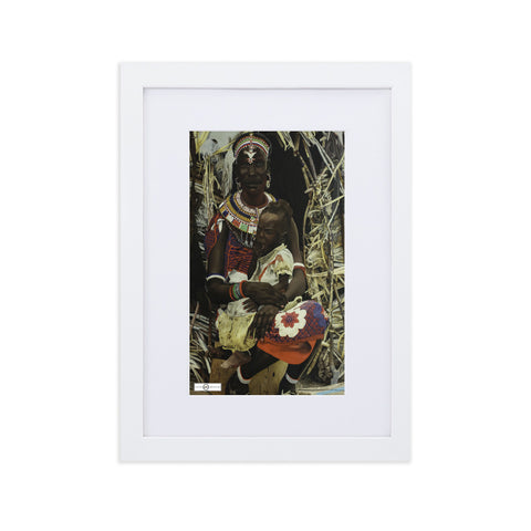 Melanin Mother & Child Framed Poster With Mat
