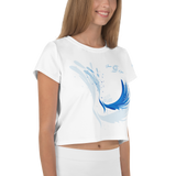 SAUCE CULTURE SPLASH (White, Cool Blue) Crop Tee