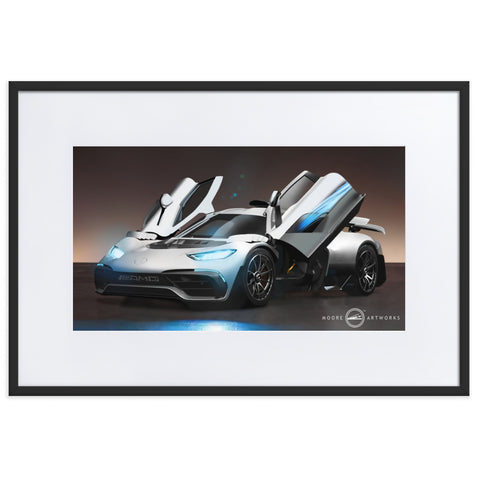 PROJECT ONE Matte Paper Framed Poster With Mat