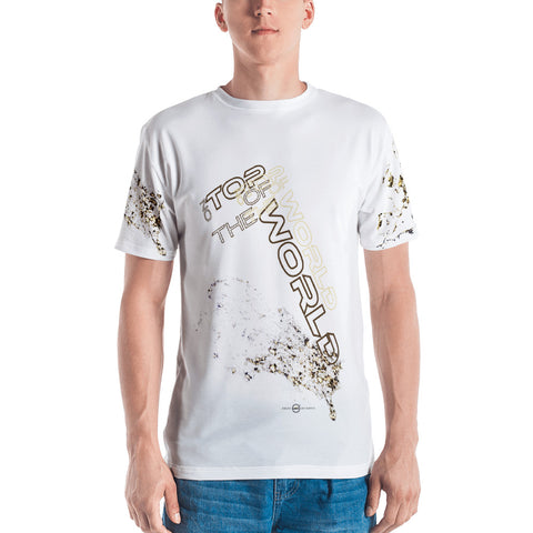 ON TOP OF THE WORLD (White) Men's T-shirt