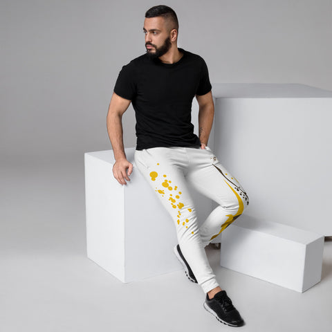 SAUCE CULTURE SPLASH (White, Pure Gold) Men's Joggers