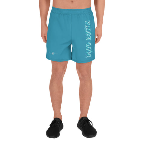 ENJOY LIFE REGARDLESS! Cool Blue Men's Athletic Long Shorts