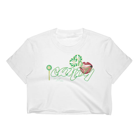 iCANDY Mint green Sauce Culture Women's Crop Top