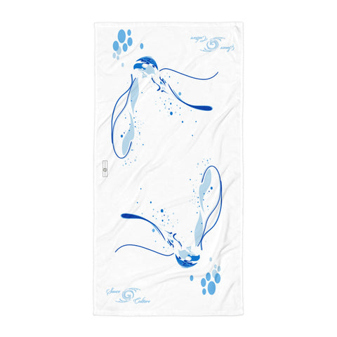 SAUCE CULTURE FORMLESS SPLASH (white, cool blue) Towel