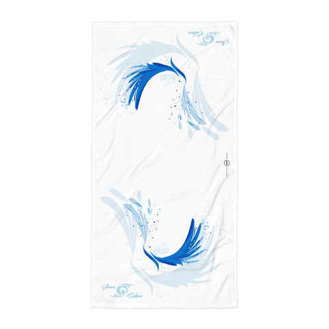 SAUCE CULTURE SPLASH (white_ cool blue) Towel
