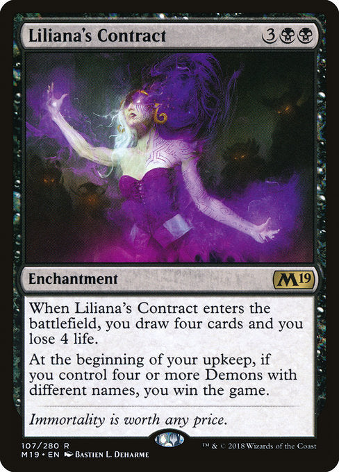 Liliana's Contract [Core Set 2019] | Murphy's Vault