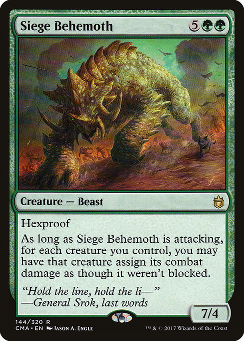 Siege Behemoth [Commander Anthology] | Murphy's Vault