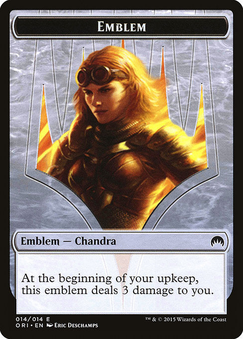 Chandra, Roaring Flame Emblem [Magic Origins Tokens] | Murphy's Vault