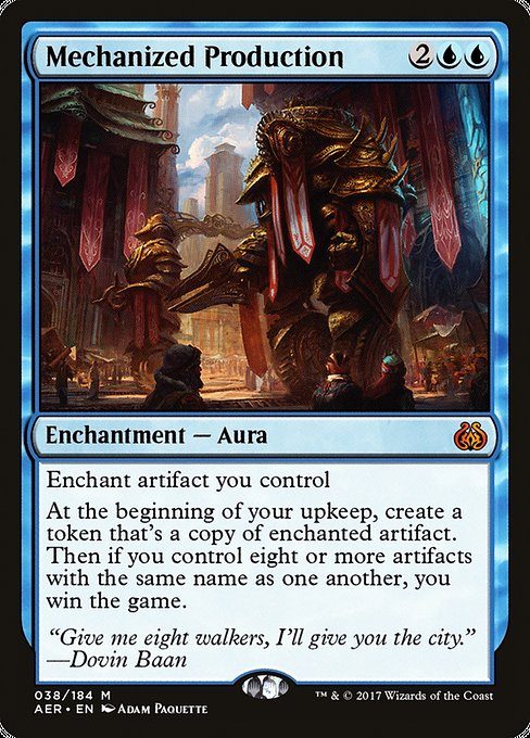 Mechanized Production [Aether Revolt]