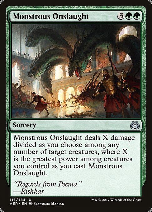 Monstrous Onslaught [Aether Revolt] | Murphy's Vault
