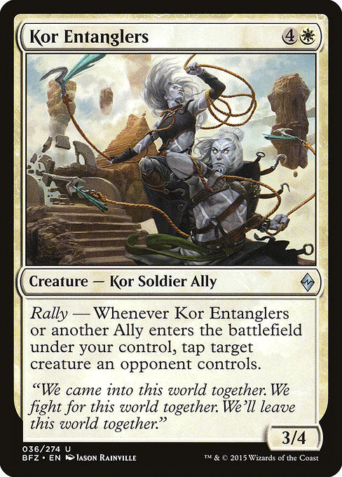 Kor Entanglers [Battle for Zendikar] | Murphy's Vault
