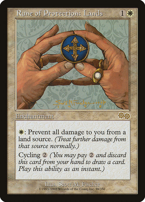 Rune of Protection: Lands [Urza's Saga] | Murphy's Vault