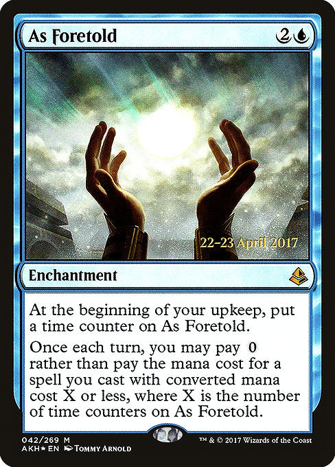 As Foretold [Amonkhet Promos] | Murphy's Vault