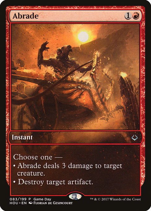 Abrade [Hour of Devastation Promos] | Murphy's Vault