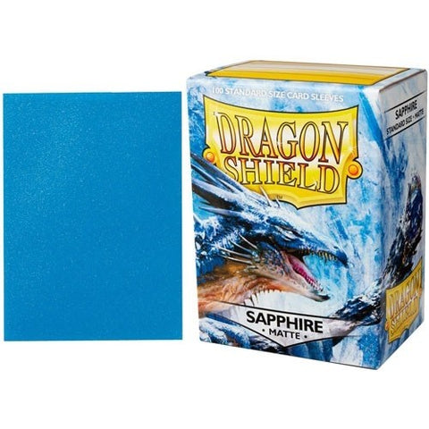 Dragon Shield Sleeves: Matte Sapphire (Box Of 100)