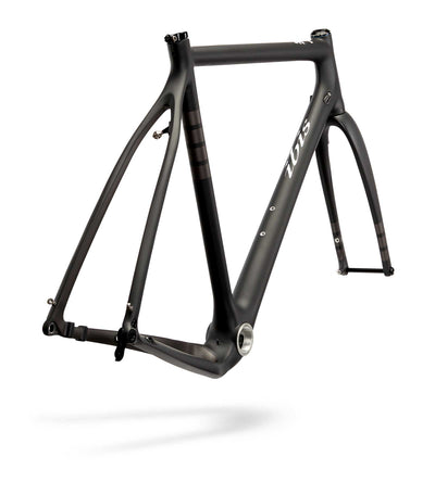Ibis Hakka MX Carbon Cyclocross / Gravel Bicycle Frame in Coal, Rear View