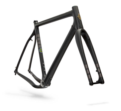 Ibis Hakka MX Carbon Cyclocross / Gravel Bicycle Frame in Coal, Front View