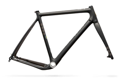 Ibis Hakka MX Carbon Cyclocross / gravel Bicycle Frame in Coal, Side View