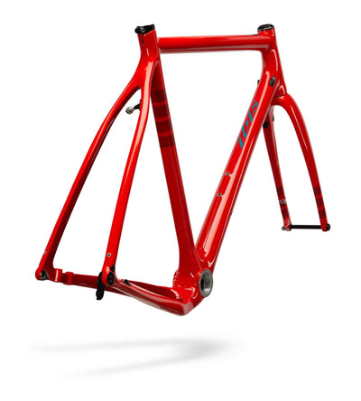 Ibis Hakka MX Carbon Cyclocross / Gravel Bicycle Frame in Fireball, Rear View