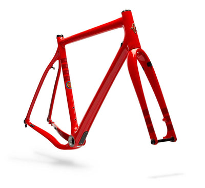 Ibis Hakka MX Carbon Cyclocross / gravel Bicycle Frame in Fireball, Front View
