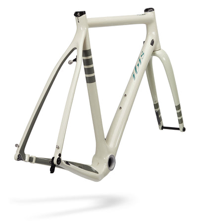 Ibis Hakka MX Carbon Cyclocross / Gravel Bicycle Frame in Bone White, Rear View