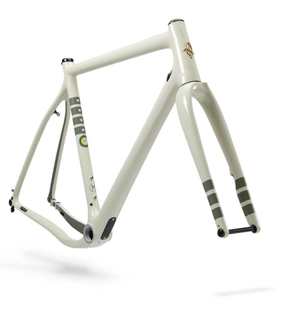 Ibis Hakka MX Carbon Cyclocross / Gravel Bicycle Frame in Bone White, Front View
