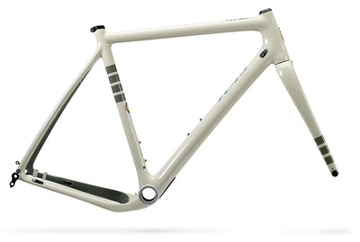 Ibis Hakka MX Carbon Cyclocross / Gravel Bicycle Frame in Bone White, Side View