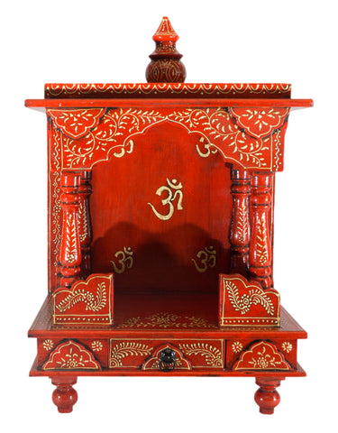 Wooden Mandir with Om