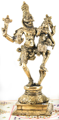 Narashima with Lakshmi Brass Murti