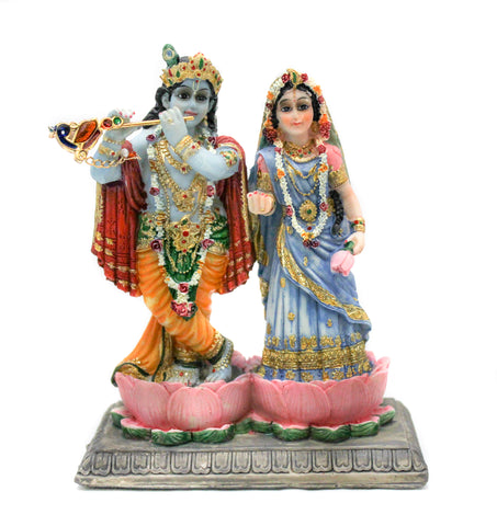 Radha & Krishna on Lotus