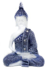 Meditating Buddha - Blue and White