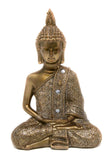 Meditating Buddha - Gold and Glitter