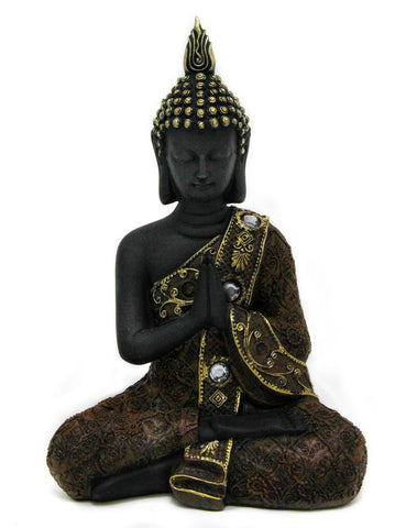 Praying Buddha - Black