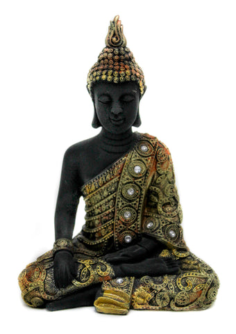 Decorated Buddha - Black and Gold