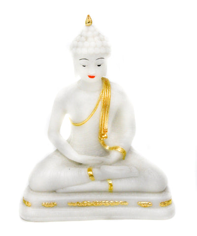 Marble Powder Meditating Buddha