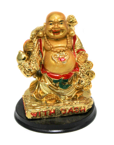 Laughing Buddha Holding Money Bag