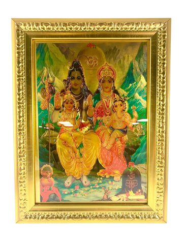 Lord Shiva Family Painting