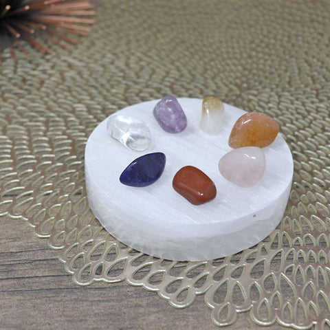 Round Selenite Crystal Charging Plate