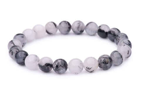 Tourmalinated Quartz Black Power Bracelet
