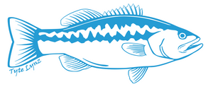 Tyte Lynz Largemouth Bass Vinyl Decal | Right Facing | Ice Blue