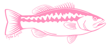 Load image into Gallery viewer, Tyte Lynz Largemouth Bass Vinyl Decal | Right Facing | Soft Pink