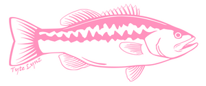 Tyte Lynz Largemouth Bass Vinyl Decal | Right Facing | Soft Pink