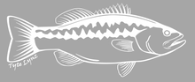 Load image into Gallery viewer, Tyte Lynz Largemouth Bass Vinyl Decal | Right Facing | White