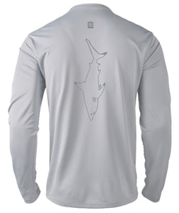 Mens Shoreline Popcorn Knit Long-Sleeve Blacktip Shark | Platinum | Tyte Lynz