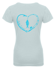 Load image into Gallery viewer, Love To Fish Youth Tee | Ice Blue | Tyte Lynz