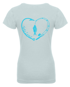 Love To Fish Youth Tee | Ice Blue | Tyte Lynz