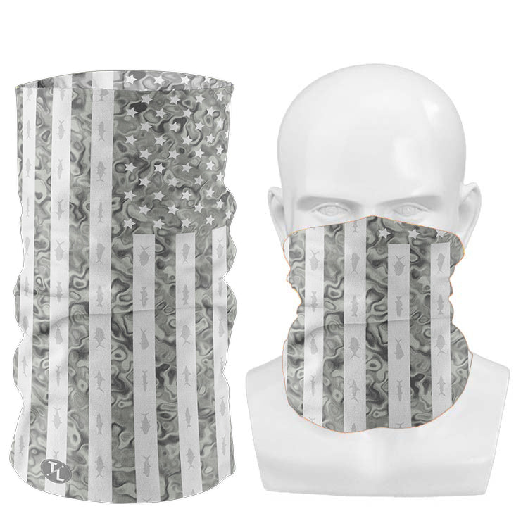 American Fish of the Keys Neck Gaiter | Tyte Lynz | Gray Flag