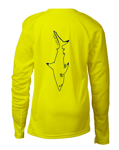 Bayside Youth Long-Sleeve Blacktip Shark | Neon Yellow | Tyte Lynz